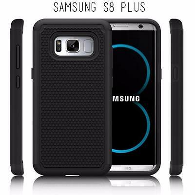 Fits Samsung Galaxy S8 PLUS Case Shockproof Rugged Impact Hybrid Cover - Black
