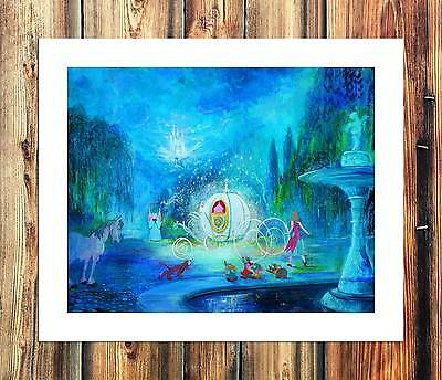 """12""""x16""""Disney Cinderella Paintings HD Print on Canvas Home Decor Wall Art Pictur"""