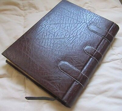 Large Hardcover Brown Leatherette  agenda, diary, Journal  Book