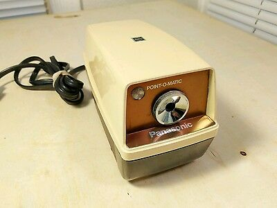Vintage Panasonic Point-O-Matic Electric Pencil Sharpener Gold WORKS! KP-33A
