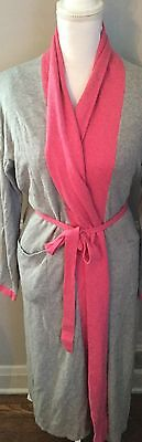 Garnet Hill Cashmere blend long Robe size XS