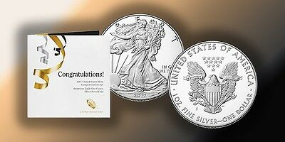 2017 US Mint Congratulations Set American Silver Eagle 1oz Proof Set