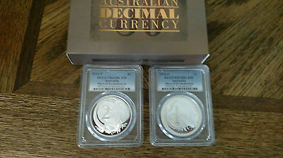 2-COIN Set 50th Anniversary of Australian Decimal Currency Silver $1 NGC PF70