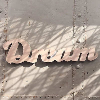 "MDF Laser Cut Words ""Dream"" or ""Happiness"""