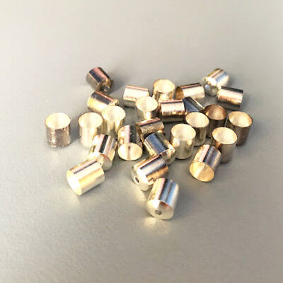 50 x Silver Plated Brass End Caps Cord Ends for 6-7mm Cord