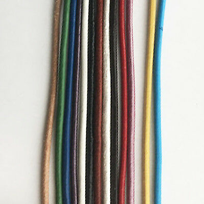 2mm Round Leather Cord x 1m (11 colours available)