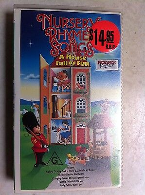 Nursery Rhymes And Songs A House Full Of Fun Vhs Video Pal Rated G Rare