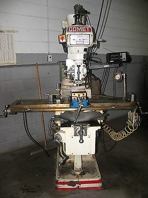 """Comet Milling Machine 10"""" x 50"""" BPV-KV3V; with DRO and automatic feed."""