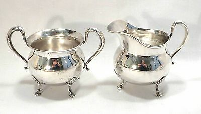 Sterling Creamer & Sugar Bowl - Frank M. Whiting.