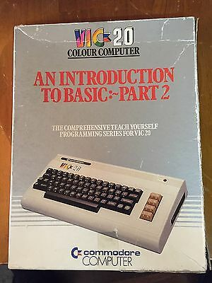 """Vintage Computer Commodore VIC 20 """"Introduction to Basic-Part2"""" package untested"""