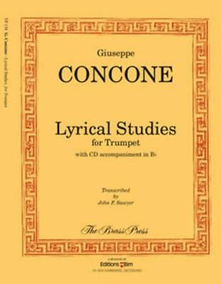 Concone - Lyrical Studies For Trumpet Book & Cd