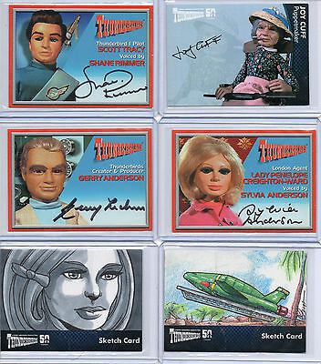 Thunderbirds Autograph, Sketch, Printing Plate And Costume Card Selection NM