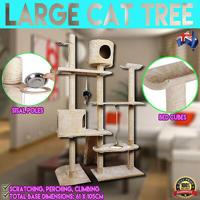 Large 170cm Cat Kitten Tree Tower Furniture Scraching Pole Post Activity Gym