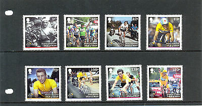 Isle of man Cycling-Tour De France 100 years (new issue 2013 -8 stamps)mnh