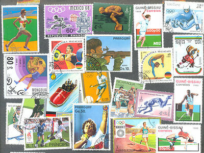 Olympics on stamps 500 all different collection
