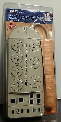 ARLEC safety Home Office Surge & Data Protected Powerboard with USB Hub PB73
