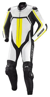 IXS Thruxton LEATHER SUIT RACING ONE PIECE MOTORCYCLE SAFETY SLIDER