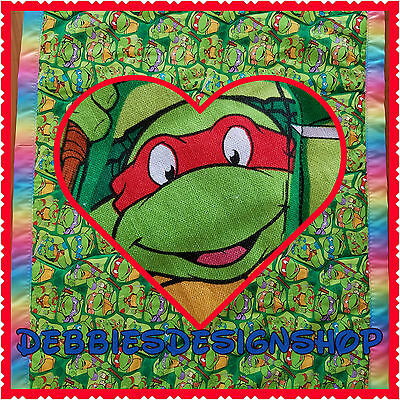TMNT BabyToddler Quilt - Wallhanging, Turtles-READY TO SHIP
