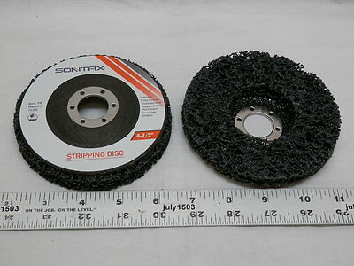 "(2) NEW 4-1/2"" Stripping Clean Disc 7/8 arbor 15000 max rpm Wheel Paint"