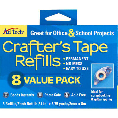 Crafter's Tape Refills 8/Pkg-Value Pack 05674