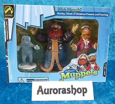 Palisades Toys Mini Muppets Box Marley Ghost of Christmas Present and Fozziwig