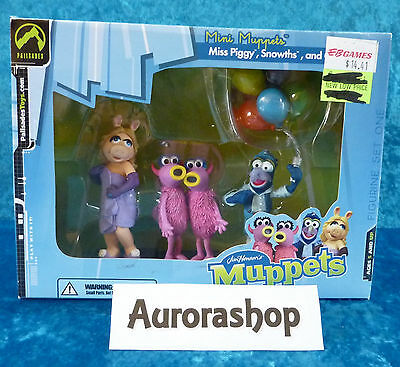 Palisades Toys Jim Hensons Mini Muppets Box Miss Piggy Snowths and Gonzo / neu