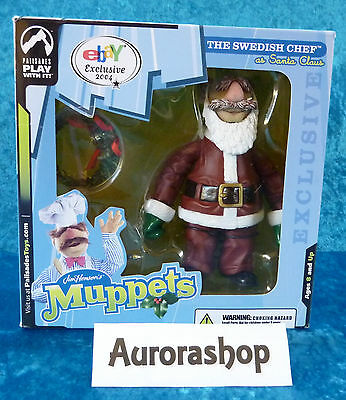 Palisades Toys Jim Hensons Muppets Box The Swedish Chef as Santa Claus ebay Excl