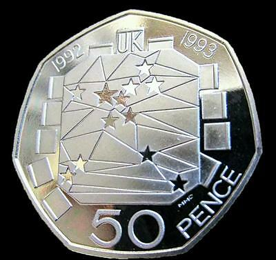 UK's Official Rarest - First Dual Dated 50p Fifty Pence Coin EEC 1992-1993