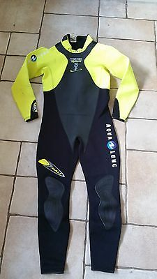 Aqualung Tech Bali 3mm Wet Suit - Black / Yellow - Size 4 / Medium