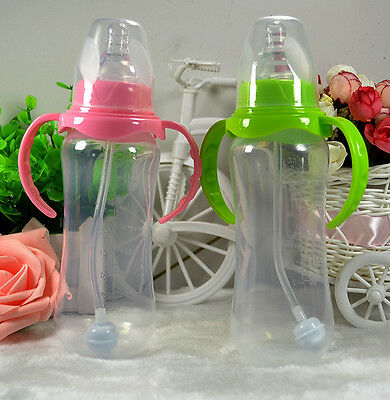1Pc Infant Baby Silicone Feeding With Spoon Feeder Food Rice Cereal Bottle US