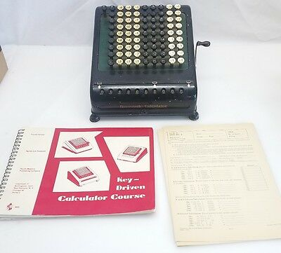BURROUGHS Manual Mechanical ADDING MACHINE Calculator Series 5 and Coarse Guide