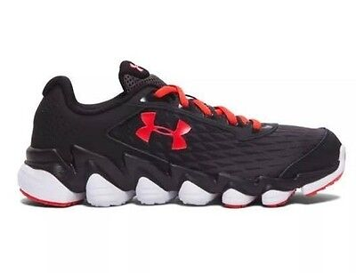 NEW Under Armour Boys Athletic Spine Running Shoes 1266314-020 Red/Black Youth