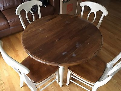 LOCAL LAKEVIEW PICKUP ONLY - Dining Room Wood Table with Four Chairs