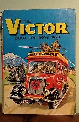 THE VICTOR BOOK for BOYS - Annual - Year 1973 - UK Annual Vintage Retro