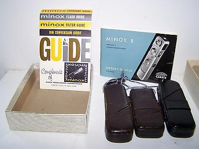 Rare Vintage Collectible  Minox B Subminiature Spy Camera with Flash and case