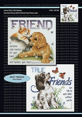 Best Friends - 'Combo' Cross Stitch Chart from Country Threads. 2 Designs