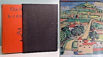c1938 The Hobbit J.R.R Tolkien COLOUR ILLUSTRATED Lord of the Rings antique book