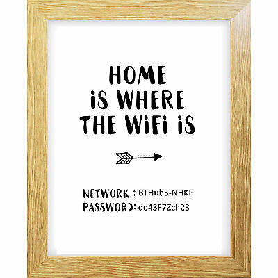 Inspirational Quote Poster Art Print A4 Typography Decor gift wall decor Wifi