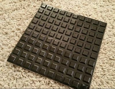 0.4 Self-Adhesive Rubber Feet Square Black Small Bumpers (100 Pieces total!)