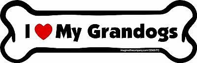 Imagine This I love My Grandogs Bone Car Magnet, 2-Inch by 7-Inch