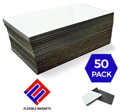 50 Self-adhesive Peel-and-stick Business Card Size Magnets. Fast free shipping!