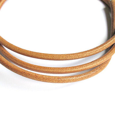 5 metres x 5mm Genuine Natural Leather Round Cord