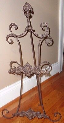 Cast Iron Decorative Picture Or Plate Easel Table Top Floor Display Rack Holder