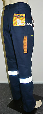 New - BISLEY WORKWEAR ORIGINAL WORK PANT 3M REFLECTIVE TAPE (BP6007T) Size: 97R