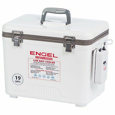 Portable Live Well Fishing Bait Tank Station Bucket Battery Powered Air Pump30QT
