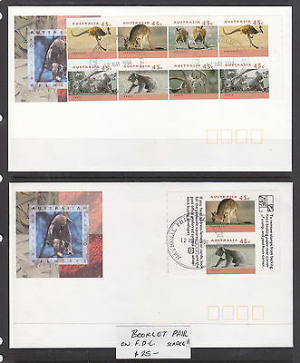 FDC: 1994 ROOS AND KOALA BOOKLET ON 2 FDCs SCARCE!!