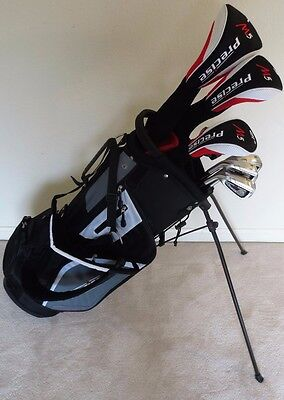 NEW Mens Left Handed Golf Club Set Driver Wood Hybrid Irons Putter Complete LH