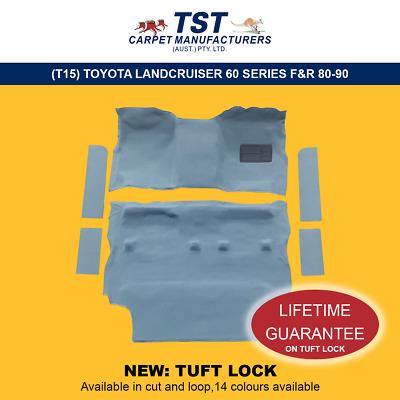 Moulded Car Carpets (T15) Toyota Landcruiser 60 Series F&r 80-90