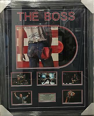 Bruce Springsteen Hand Signed Framed Born In The Usa Album The Boss