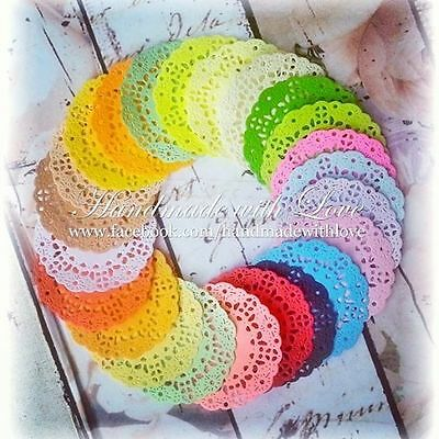 """2"""" Mini French Pastry Doilies, 1 pack of 24pcs and beautiful colours."""